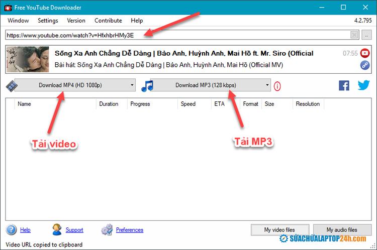 Hướng dẫn sử dụng Free YouTube Downloader