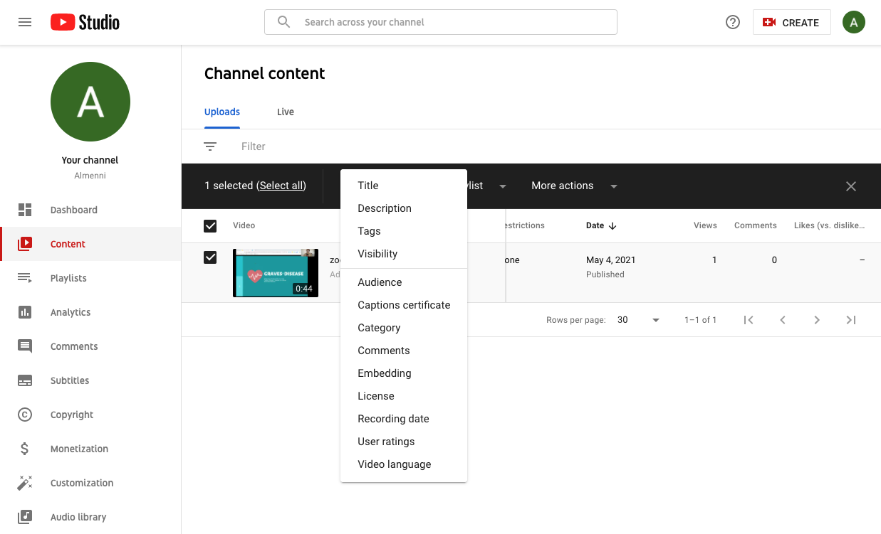 how to choose a category for a youtube video