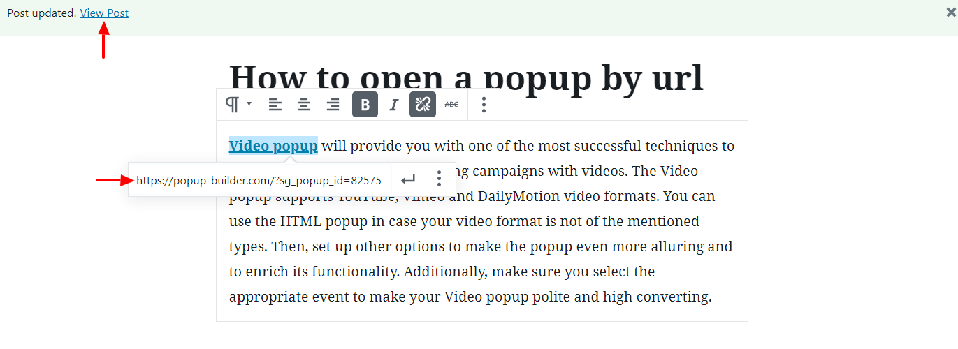 How to Open a Popup by URL