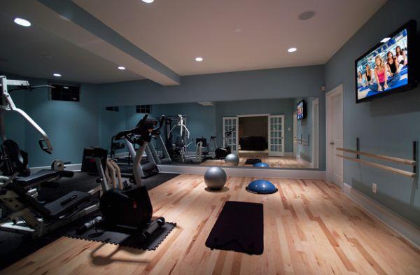 Phòng gym hiện đại tại nhà