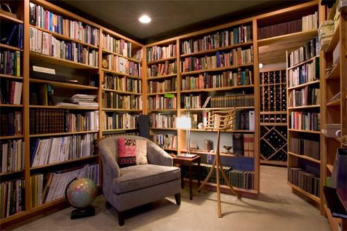 Không gian phòng đọc sách cổ điển