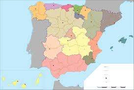 Resultado de imagen de mapa politico españa mudo