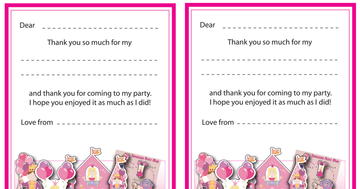 Free Printable Princess Thankyou Cards Pdf Google Drive