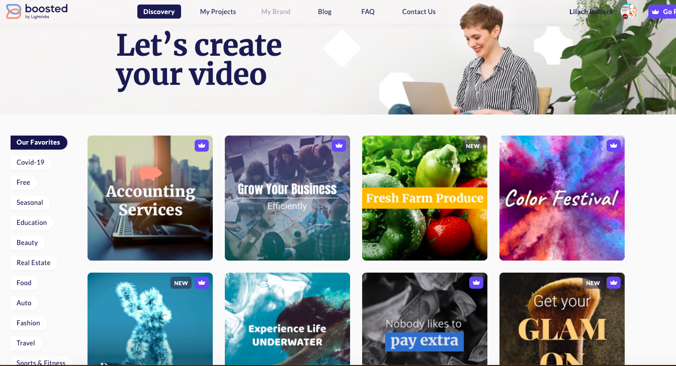 boosted is a tool to create video design for social media purposes