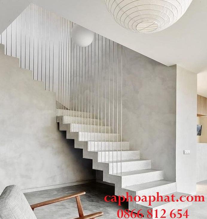 Cầu thang dây cáp làm cho ngôi nhà trở nên sang trọng và hiện đại hơn