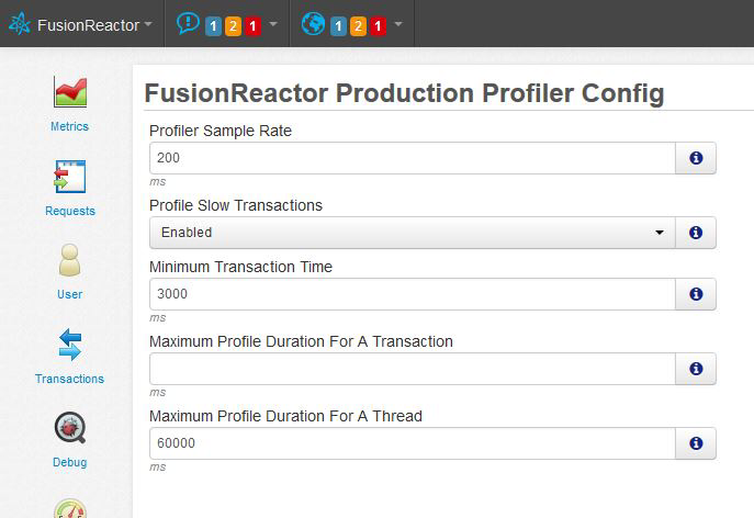 Continuous profiling with FusionReactor