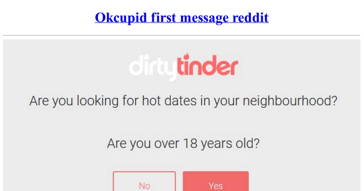 Okcupid reddit
