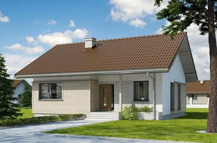 Mẫu số 3: mẫu mái nhà lợp ngói đẹp theo phong cách đơn giản