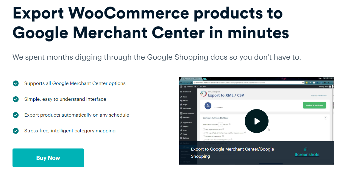 export woocommerce products
