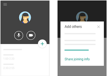 Start videoconferencing on mobile
