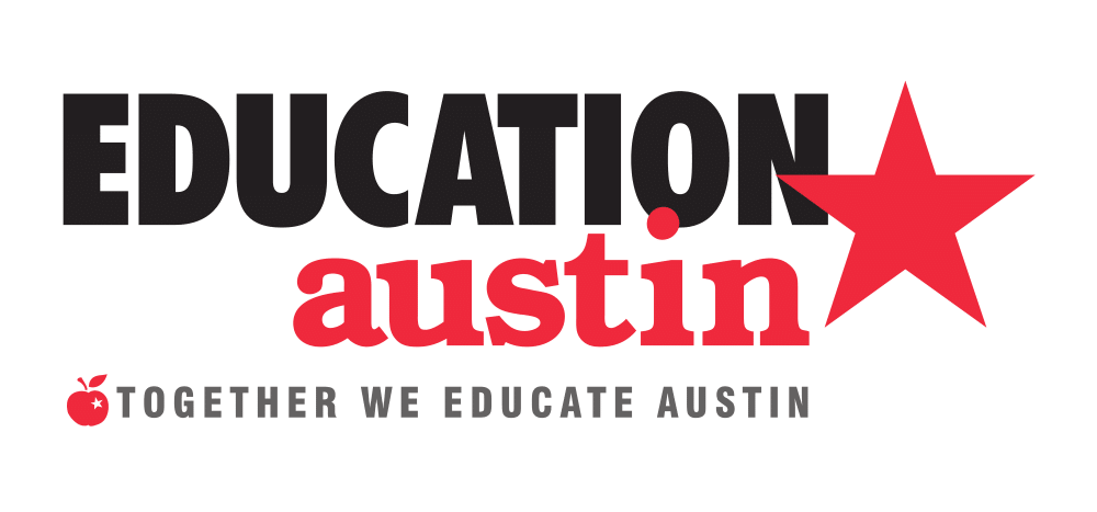 """Text says """"Education Austin. Together we educate Austin."""""""