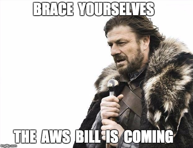 Ned Stark asks the companies to brace themselves as the AWS bill is coming