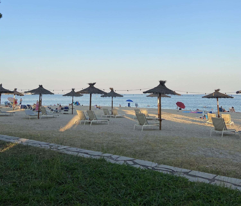 Playa de l'Esquirol  justo delante del Hotel Estival Centurión Playa
