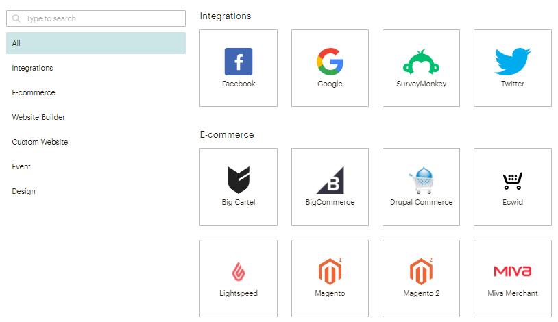 conectar sites e plataformas com o mailchimp