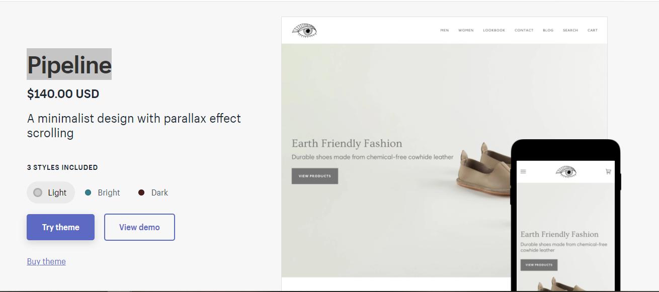 Pipeline - premium Shopify theme