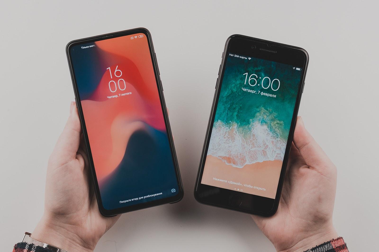 iphone 7 plus VS Xiaomi Mi Mix 3
