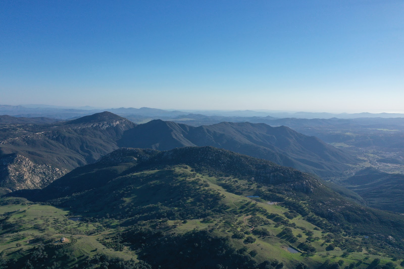 Drone view from the top of Mt Palomar