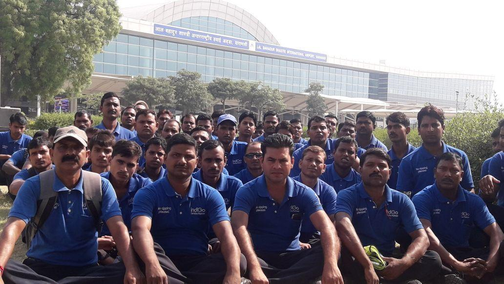 Indigo Airlines: IndiGo ground staff goes on strike in Varanasi   India  News - Times of India