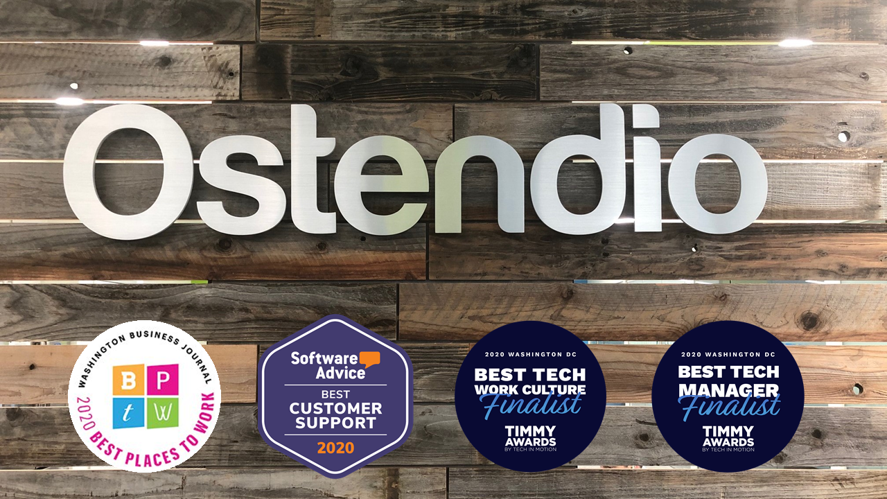 Ostendio recognized in 2020 with 4 awards
