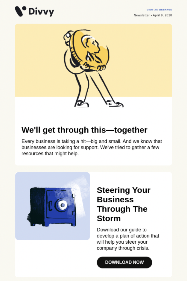 Email Blasts - Share Blog Content Example From Divvy