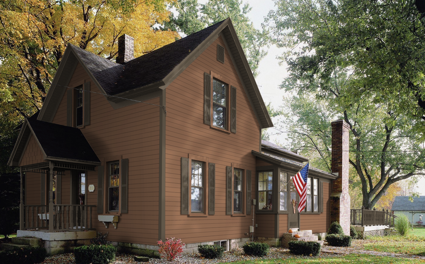 clay colored siding