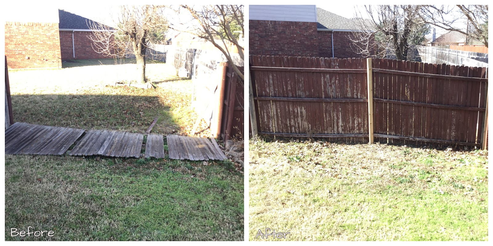 Handyman Little Elm fence repair.