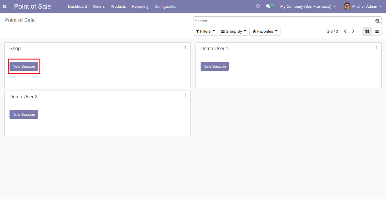Start the POS session to use the Odoo POS Customer Contact module.