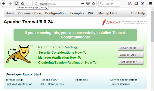 tomcat test page