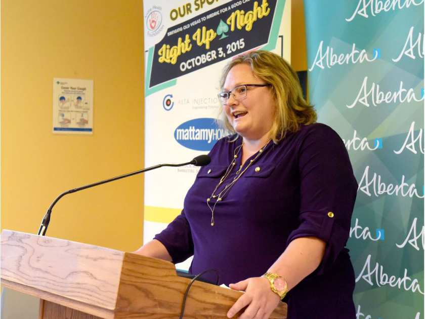 Health Minister Sarah Hoffman announces that Airdrie's Urgent Care Facility will be open 24-hours a day, starting in early 2017, at a press conference held at the centre on Wednesday September 14, 2016 in Airdrie, Alta. Chelsea Grainger/Airdrie Echo/Postmedia Network