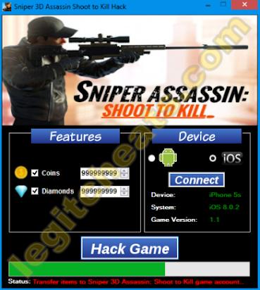 Sniper 3D Assassin Hack Cheats - 100% Working - No Surveys!