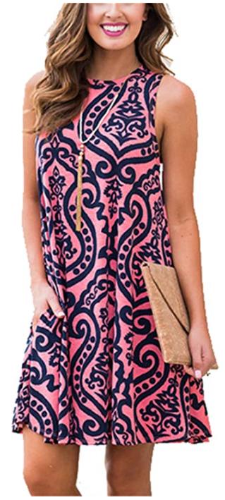 amazon summer casual t-shirt dress