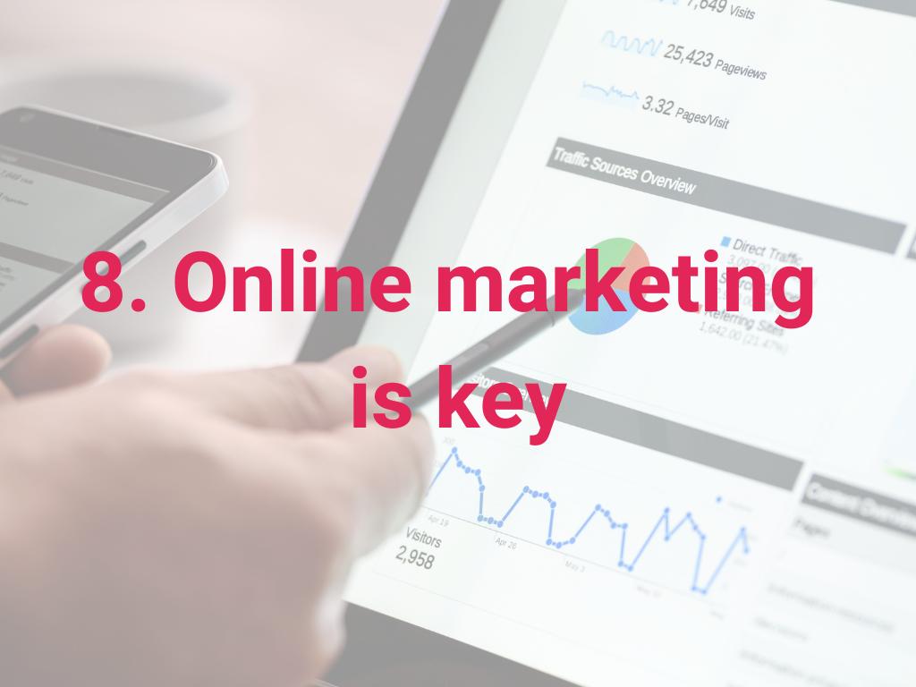 Online marketing is belangrijk