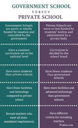 Essay private school vs government school