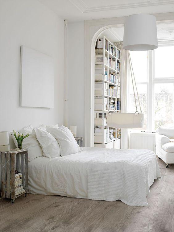 Gorgeous White Scandinavian Bedroom Design