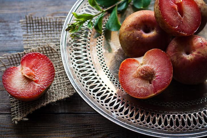 Royalty-Free photo: Sliced fruit served on plate   PickPik