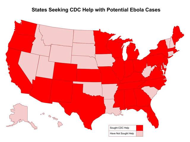 Ebola Vs The Enterovirus Which Should Scare Us More - Ebola us map