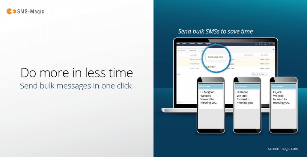 SMS Magic integration with Zoho CRM