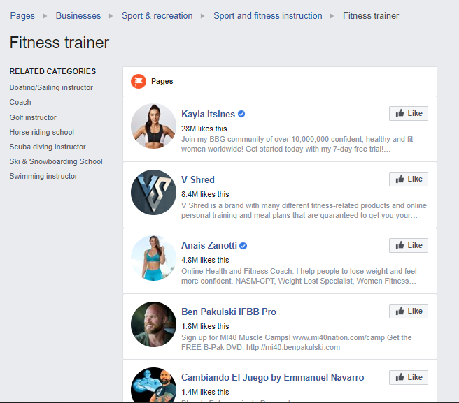 find facebook influnecers