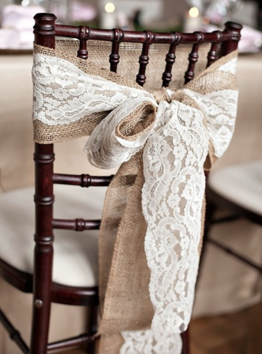 DIY bow on chair