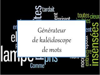 Générateur de kaléidoscope de mots