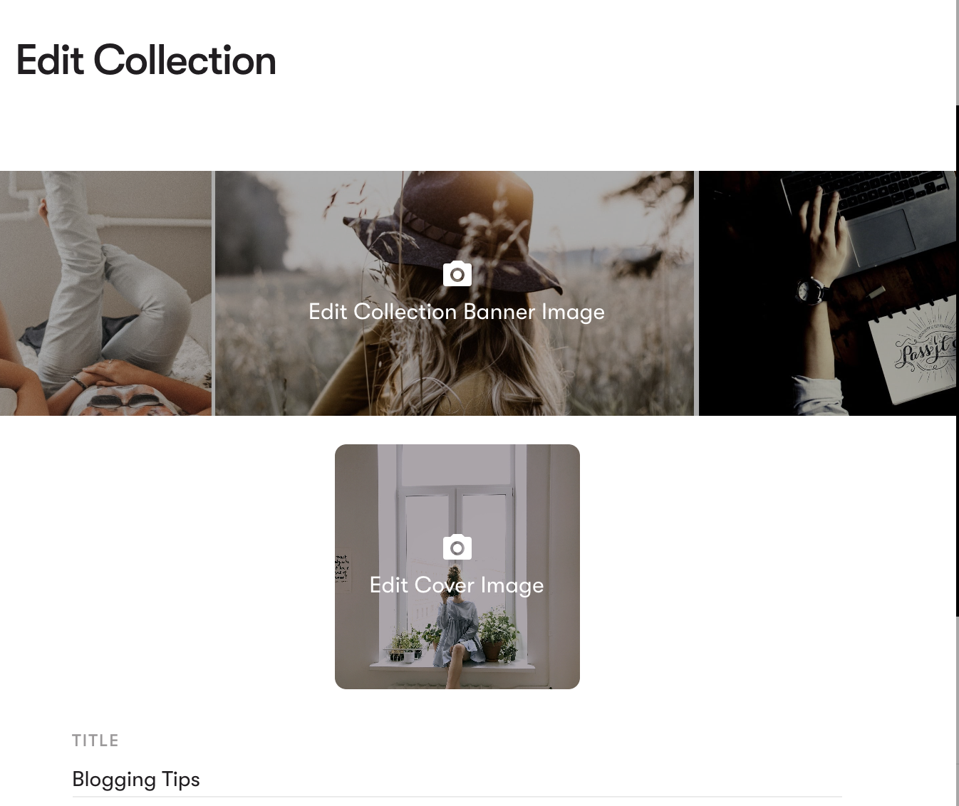 Create a banner for a Mix collection