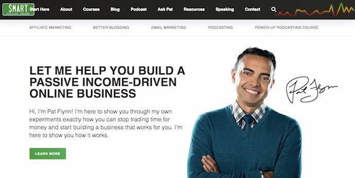 Pat Flynn personal website design