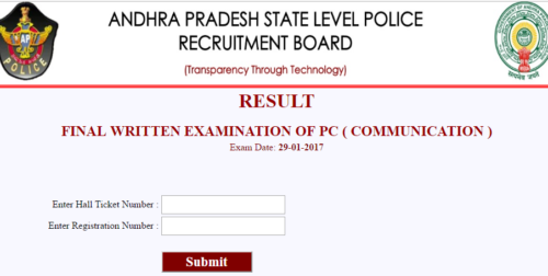 AP Police Communication Constable Result