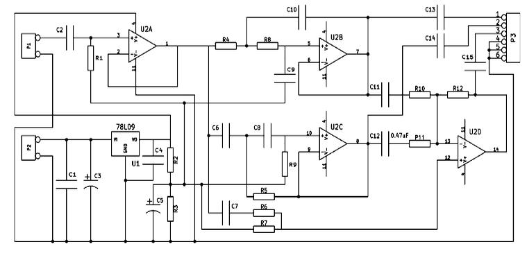 Схема расположения элементов:
