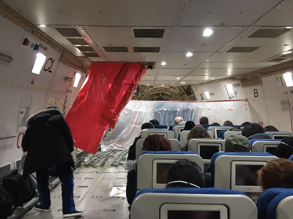 Photo from inside the charter plane