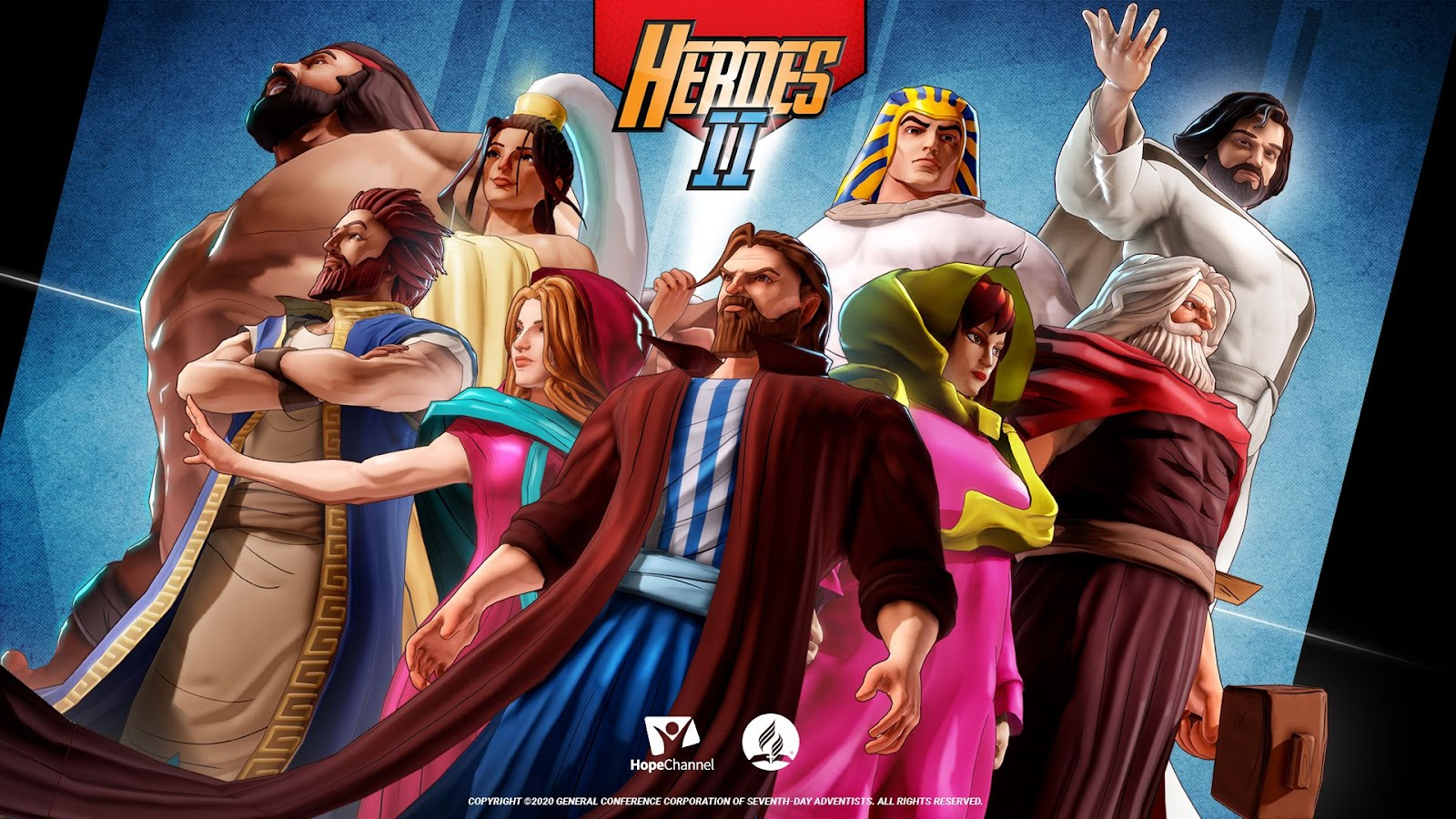 Rich results on Google's SERP when searching for any Bible game like Heroes 2: The Bible Trivia Game.