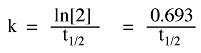 Example of a rate equation.