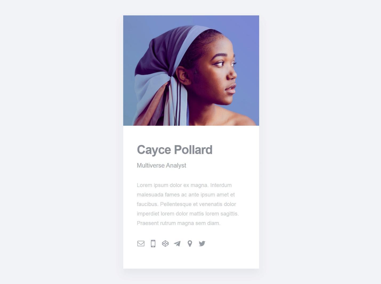 Cayce Pollard home page