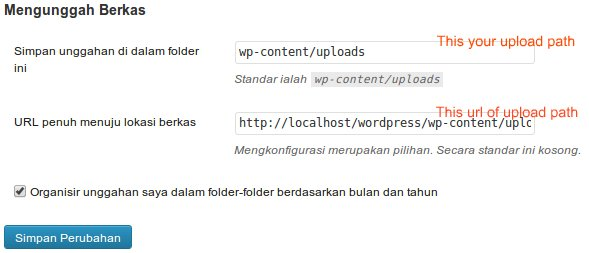 Change media upload path WordPress 3.5