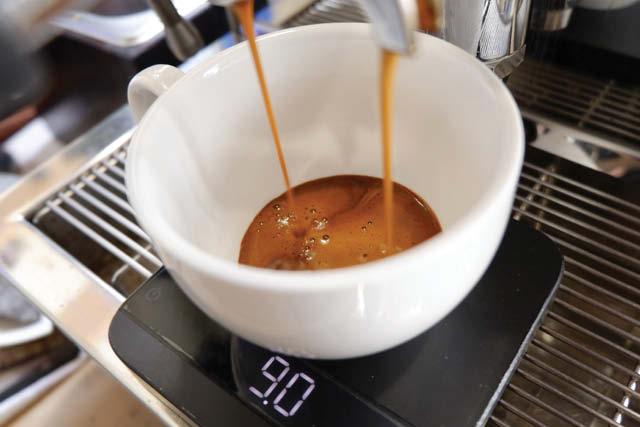 Café espresso em uma xícara.